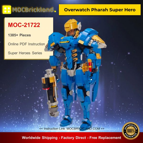 MOC-21722 Super Heroes Overwatch Pharah Super Her Designed By buildbetterbricks With 1385 Pieces