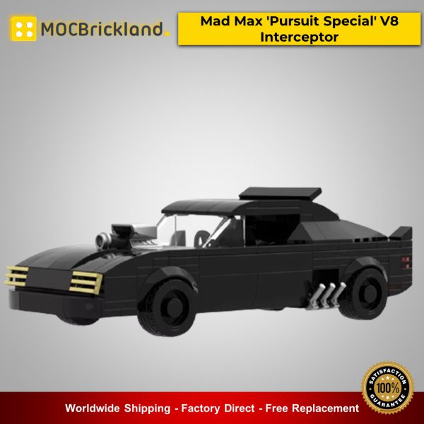 MOC-21806 Movie Mad Max 'Pursuit Special' V8 Interceptor Designed By mkibs With 252 Pieces
