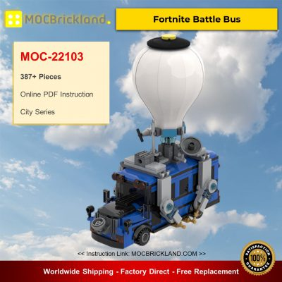 Fortnite Battle Bus MOC-22103 City By MOMAtteo79 With 387 Pieces