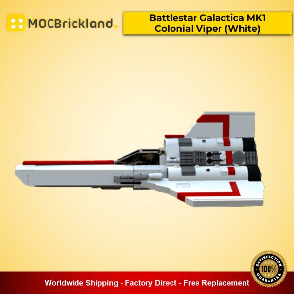 MOC-23012 Battlestar Galactica MK1 Colonial Viper (White) Designed By apenello With 561 Pieces