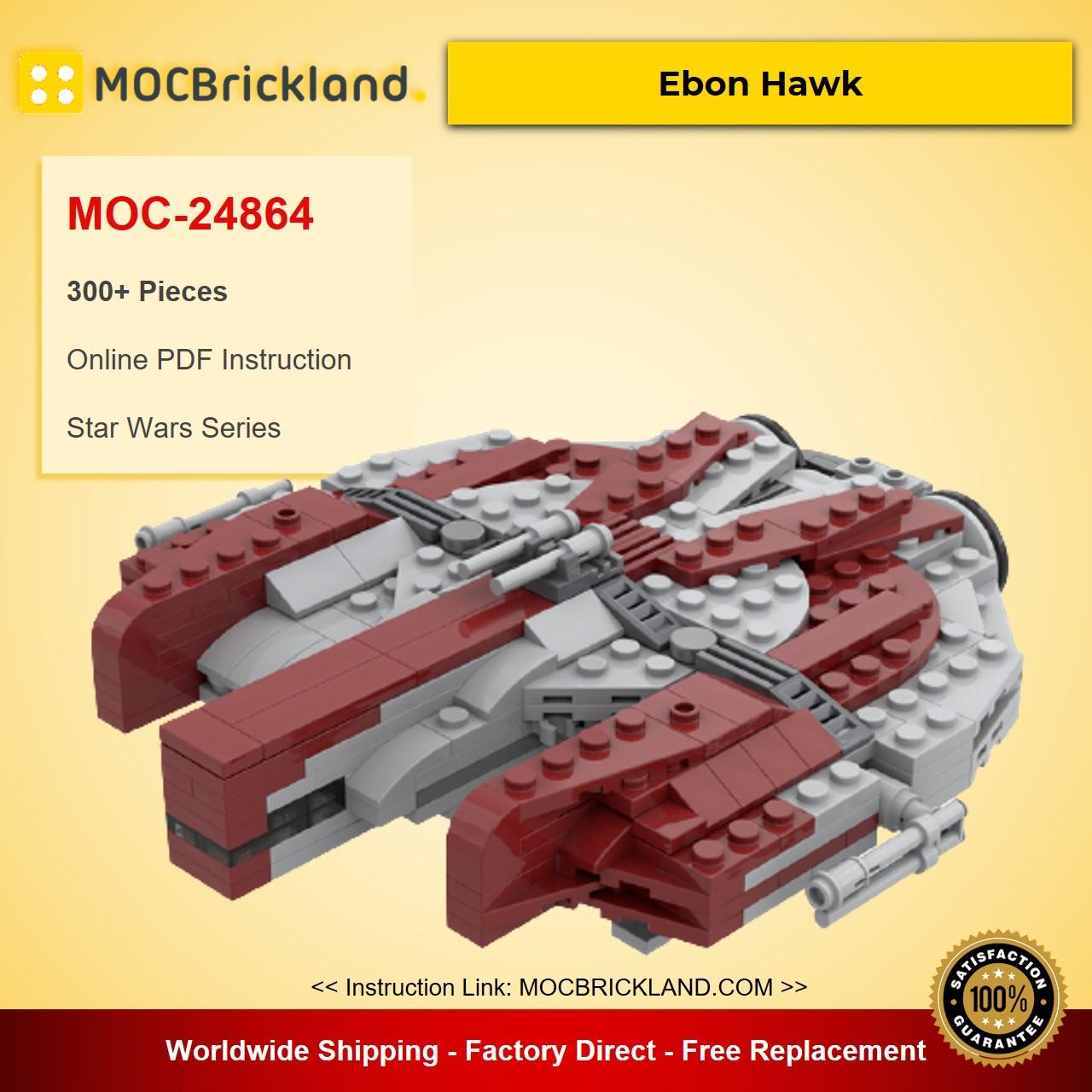 Ebon Hawk MOC-24864 Star Wars Designed By Brix23 With 300 Pieces