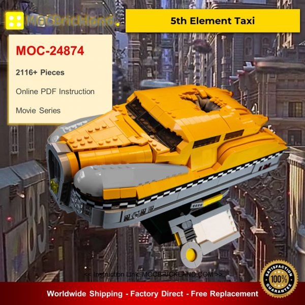 MOC-24874 5th Element Taxi Movie Designed By DavDupMOCs With 2116 Pieces