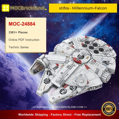 Millennium Falcon MOC 24884 Star Wars Designed By Stifos With 3361 Pieces