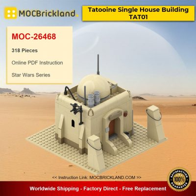 Tatooine Single House Building TAT01 MOC-26468 Star Wars Designed By azzer86 With 318 Pieces