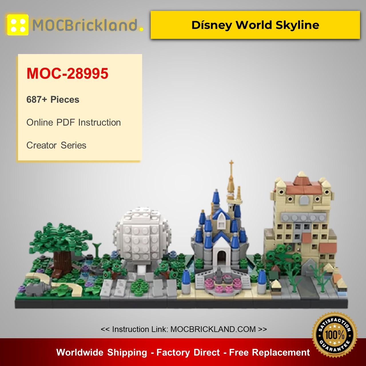 MOC-28995 Creator Dísney World Skyline Designed By benbuildslego With 687 Pieces