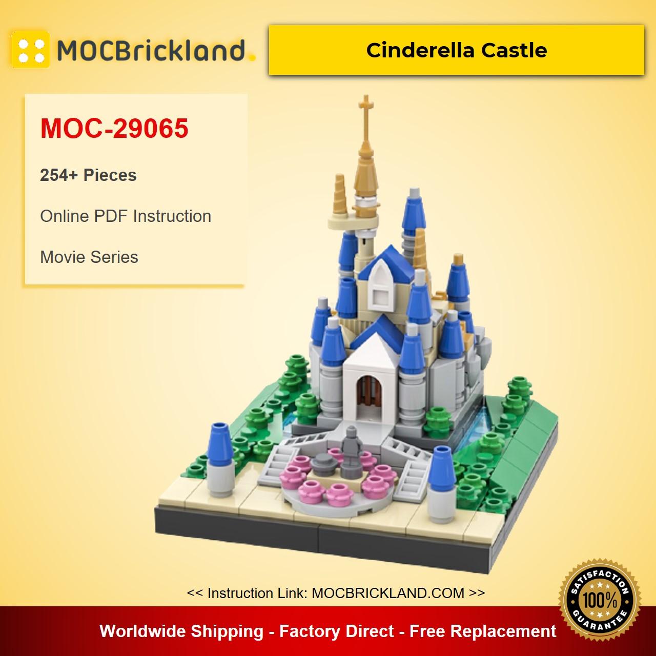 Cinderella Castle MOC-29065 Movie Designed By benbuildslego With 254 Pieces