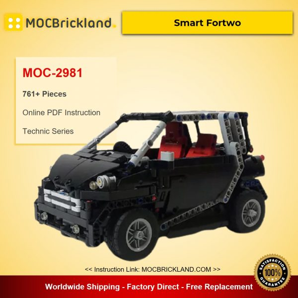 Smart Fortwo MOC-2981 Technic Designed By Artemy Zotov With 761 Pieces