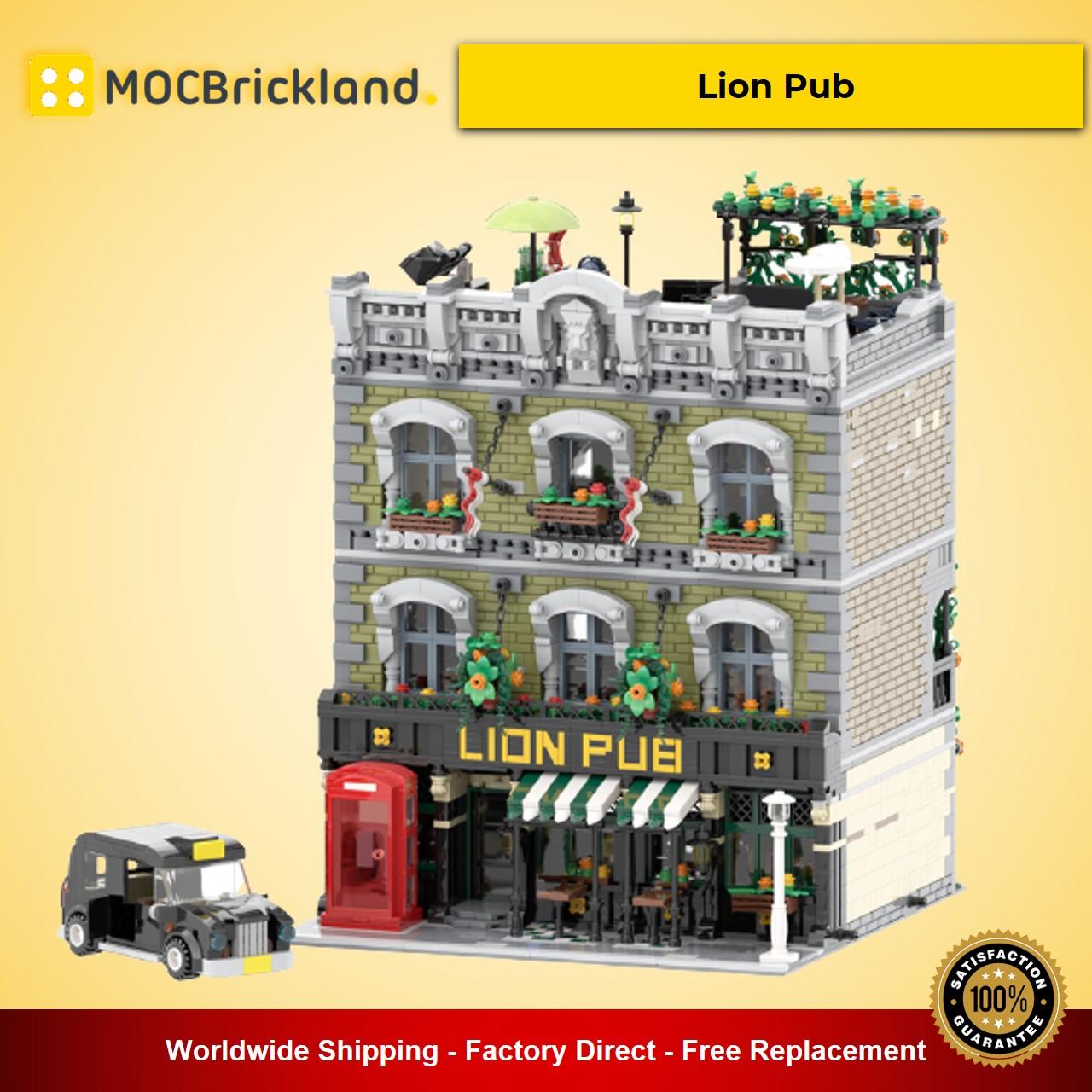 Lion Pub MOC-30010 Modular Building Designed By simon84 With 5801 Pieces