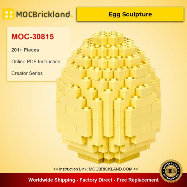 Egg Sculpture MOC-30815 Creator Designed By Runtemund With 201 Pieces