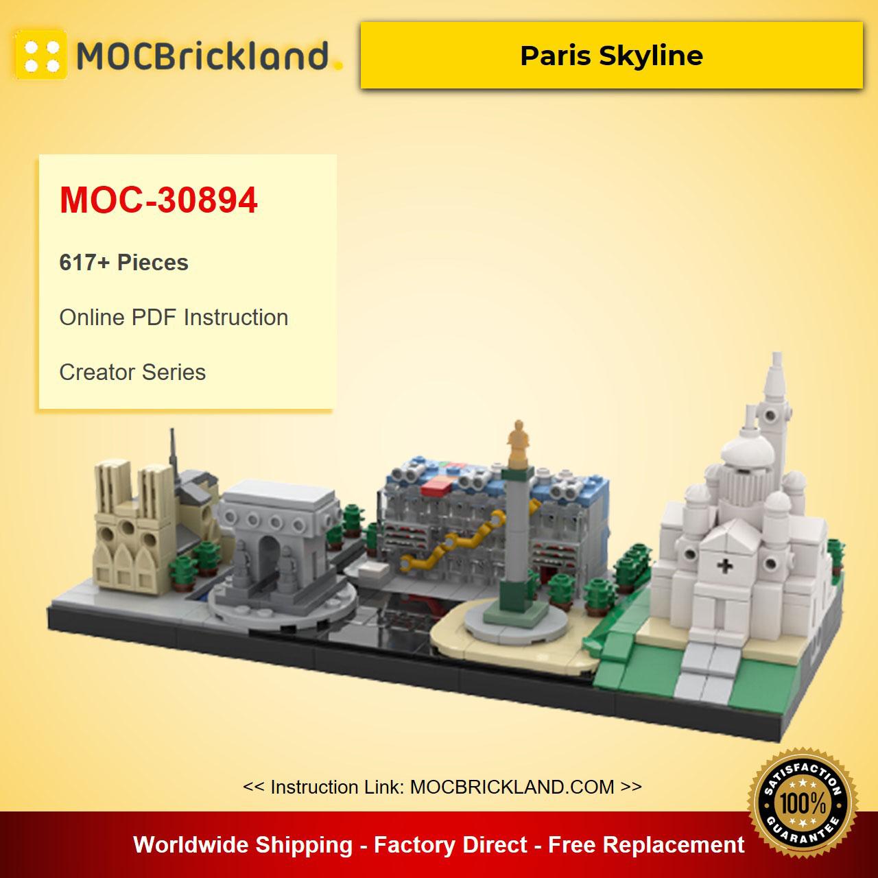 Paris Skyline MOC-30894 Creator Designed By JenArtiste With 617 Pieces