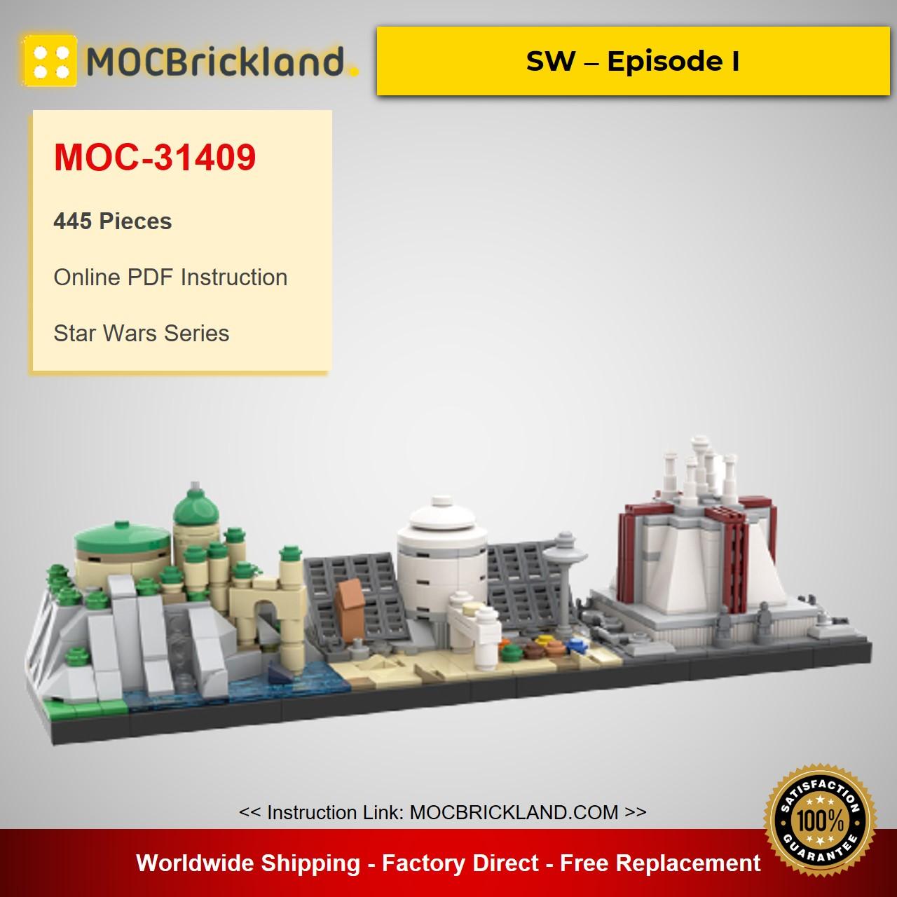 SW – Episode I MOC-31409 Star Wars Designed By benbuildslego With 445 Pieces