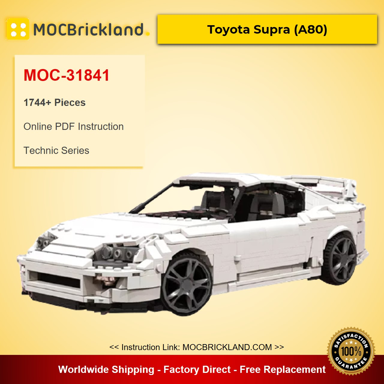 Toyota Supra (A80) MOC-31841 Technic Designed By SirManperson With 1744 Pieces