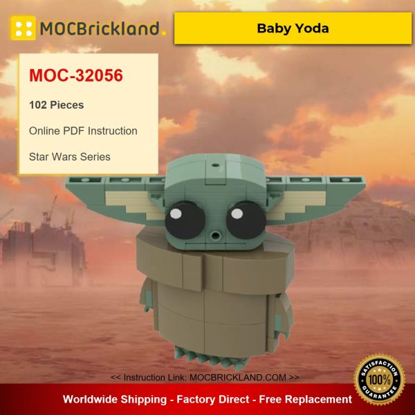 Baby Yoda MOC-32056 Star Wars Designed By R0Sch With 102 Pieces