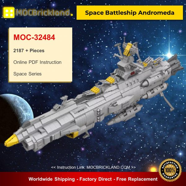 MOC-32484 Space Battleship Andromeda Designed By apenello With 2187 Pieces