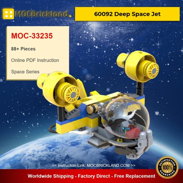 Deep Space Jet MOC-33235 Designed By plastic.ati With 88 Pieces