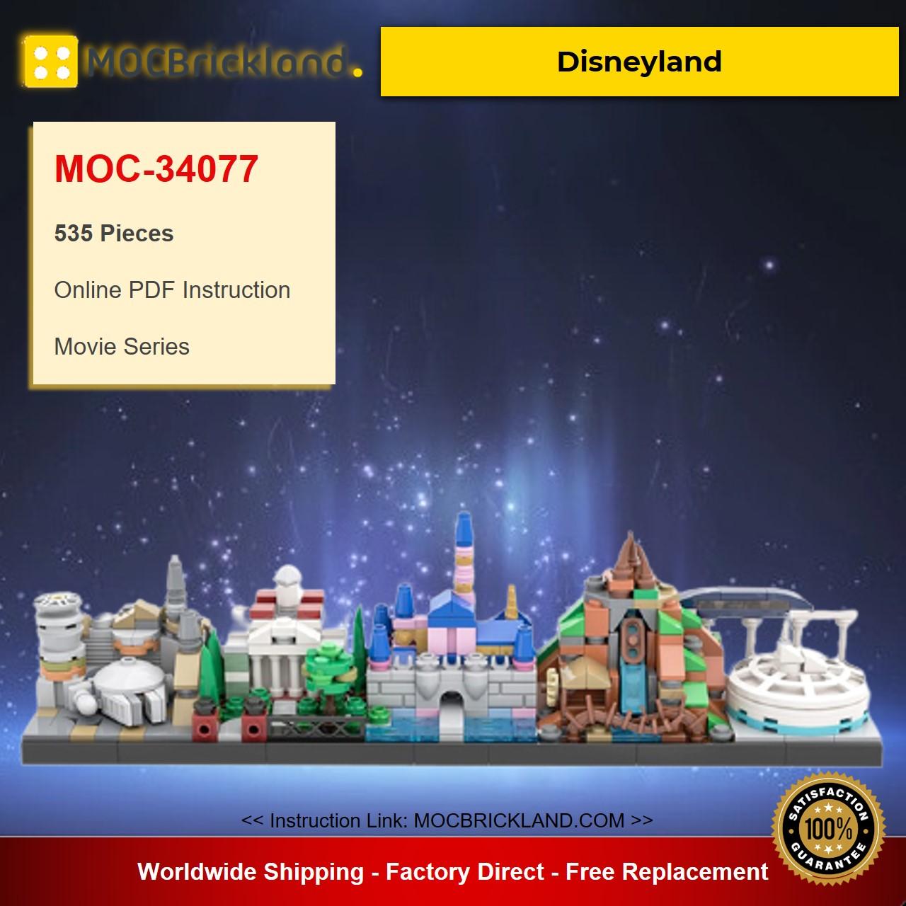 Disneyland MOC-34077 Movie Designed By benbuildslego With 535 Pieces