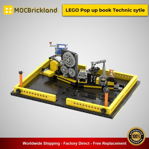 LEGO Pop up book Technic sytle MOC-34295 Creator Designed By OnTheEdge With 719 Pieces