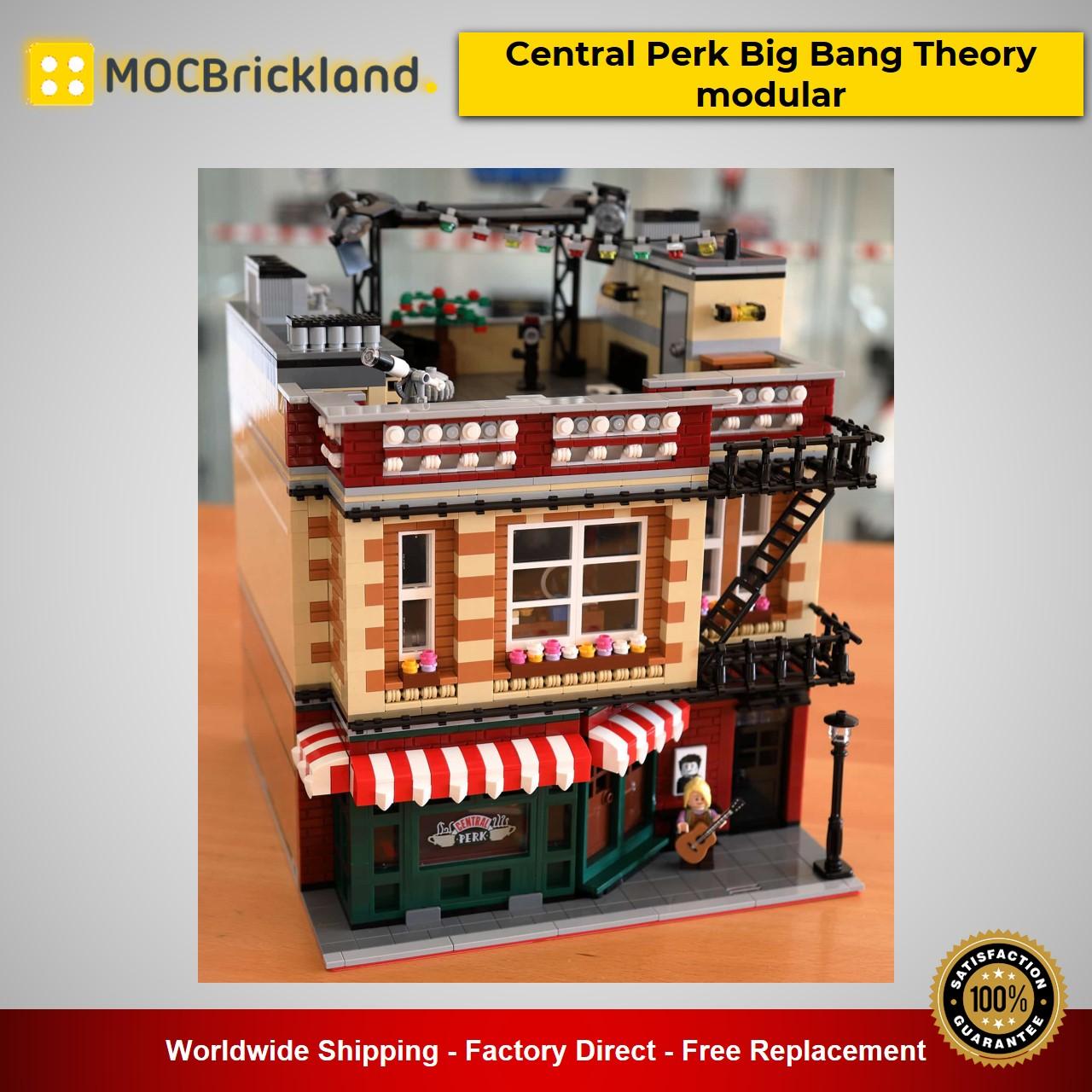 Modular Buildings MOC-34463 Central Perk Big Bang Theory modular Designed By BrickPolis With 4294 Pieces