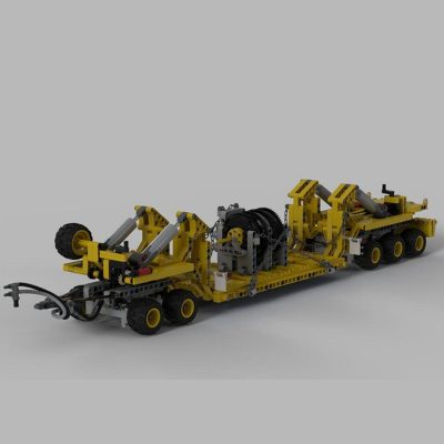 Oshkosh M1070 Civil-Version Tractor with Heavy Duty Trailer Technic MOC-34732 by legolaus with 2730 pieces