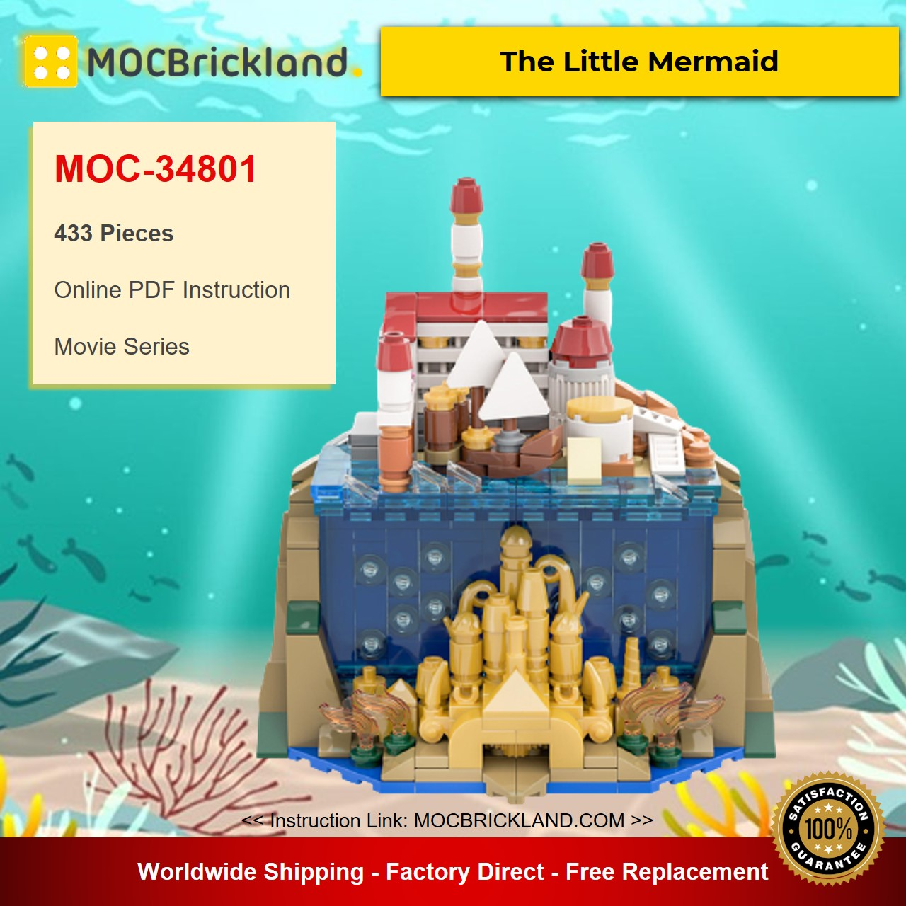 The Little Mermaid MOC-34801 Movie Designed By benbuildslego With 344 Pieces