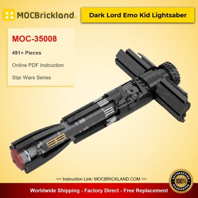 Dark Lord Emo Kid Lightsaber MOC-35008 Star Wars Designed By dmarkng With 491 Pieces