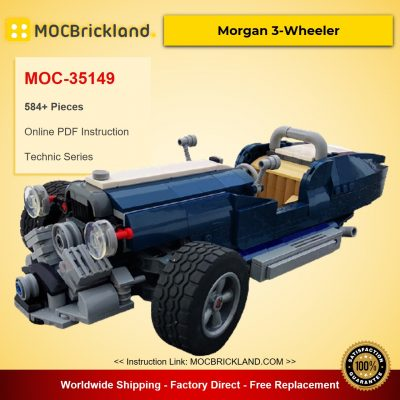 10265 Morgan 3-Wheeler MOC-35149 Technic Designed By Kirvet With 584 Pieces