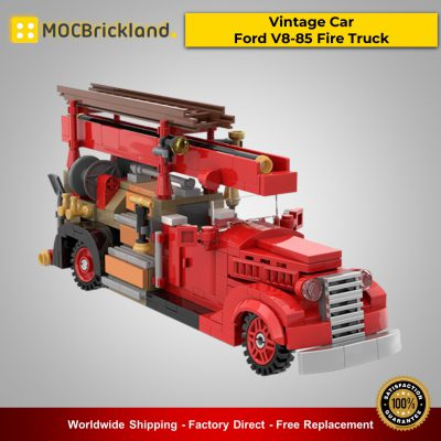 MOC-35195 Vintage Car – Ford V8-85 Fire Truck Technic Designed By SugarBricks With 404 Pieces