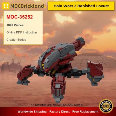 MOC-35252 Creator Halo Wars 2 Banished Locust Designed By WookieeCookies With 1049 Pieces