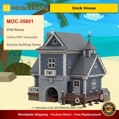 Dock House MOC-35601 Modular Buildings Designed By jepaz With 3743 Pieces