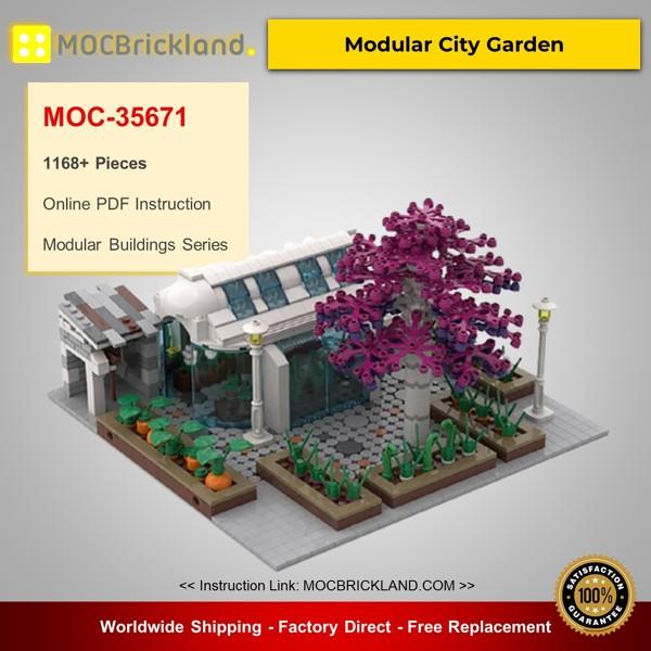 MOC-35671 Modular Buildings Modular City Garden Designed By gabizon With 1168 Pieces
