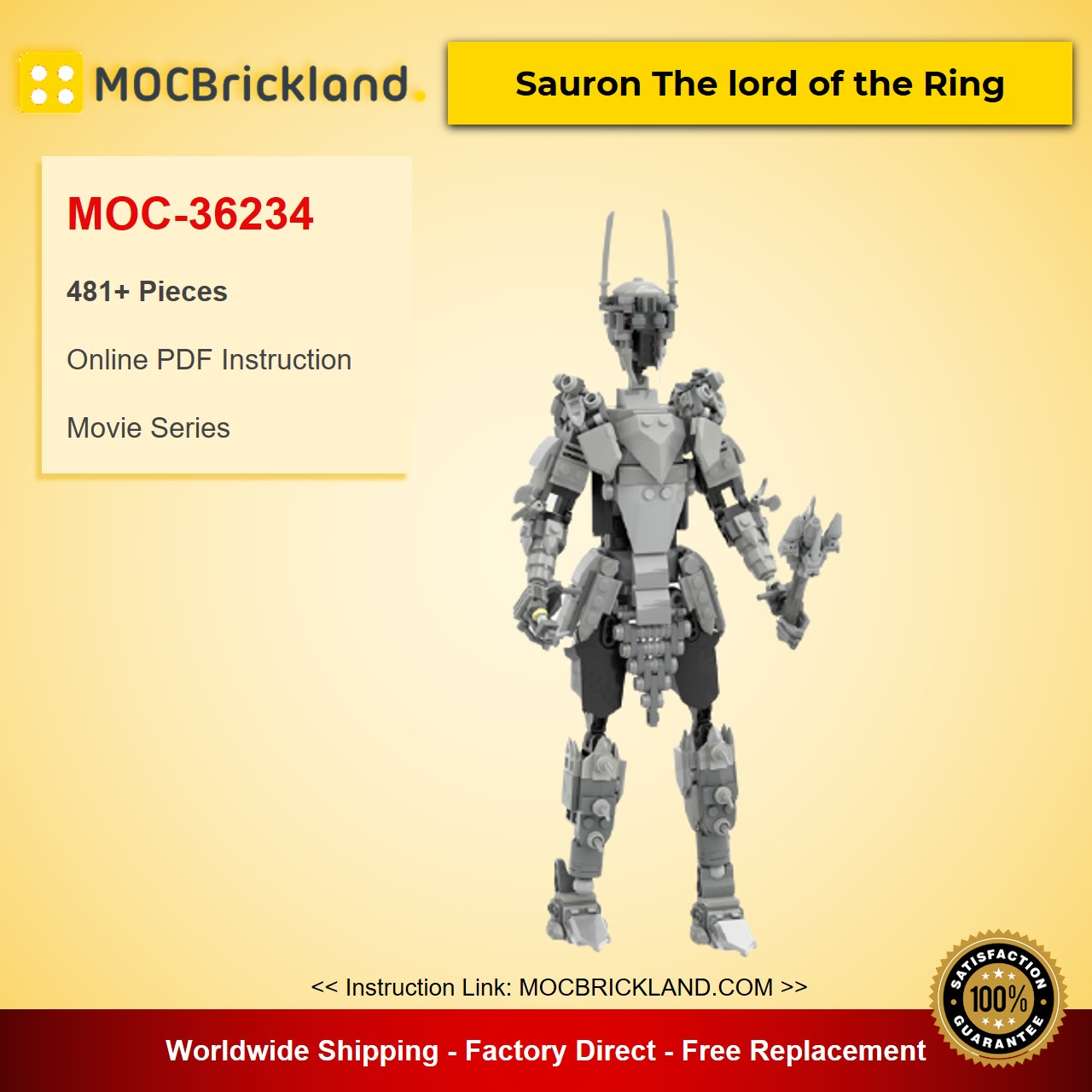 Sauron The lord of the Ring MOC-36234 Movie Designed By buildbetterbricks With 481 Pieces