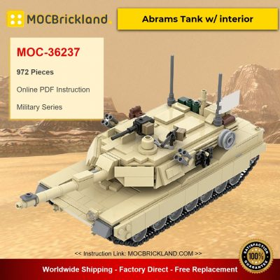 M1A2 Abrams Tank w/ interior MOC-36237 Military Designed By TOPACES With 972 Pieces
