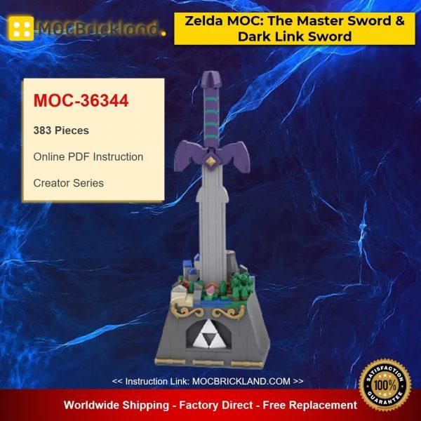 MOC-36344 Creator Zelda MOC: The Master Sword & Dark Link Sword Designed By SkywardBrick With 383 Pieces