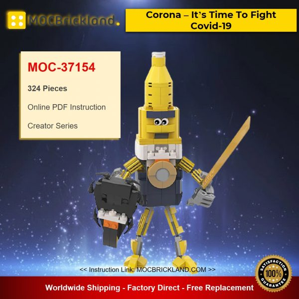 MOC-37154 Creator Corona – It's Time To Fight Covid-19 Designed By gabizon With 324 Pieces