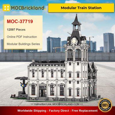 Modular Train Station MOC-37719 Modular Buildings Designed By Das_Felixle With 12597 Pieces