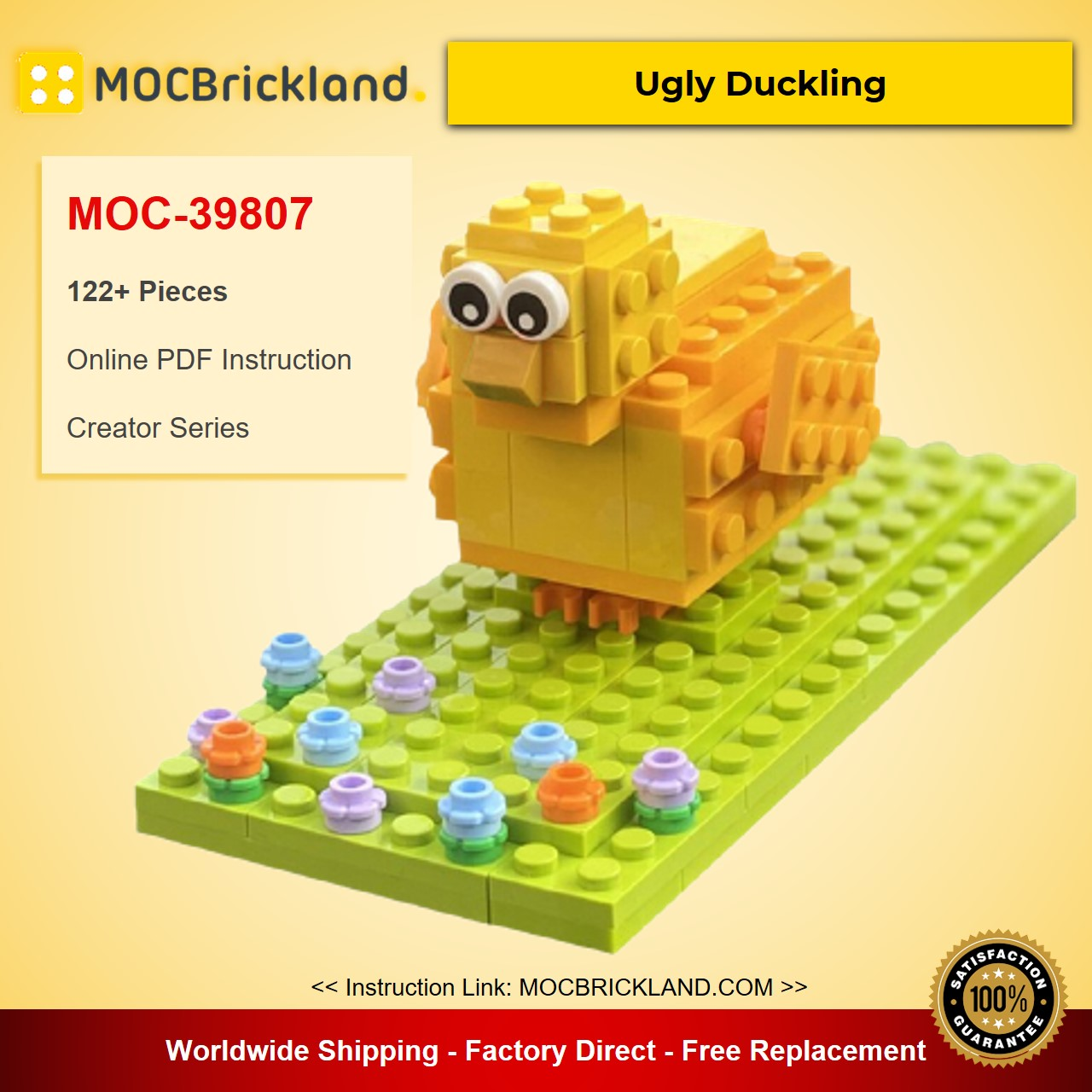 Ugly Duckling MOC-39807 Creator Designed By Runtemund With 122 Pieces