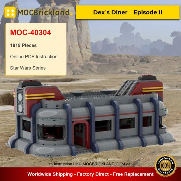 Dex's Diner – Episode II MOC-40304 Star Wars Designed By 6211 With 1819 Pieces