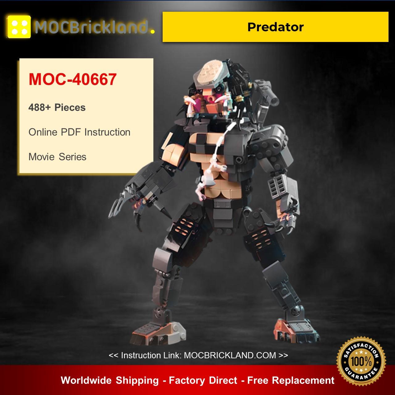 Predator MOC-40667 Movie Designed By buildbetterbricks With 488 Pieces