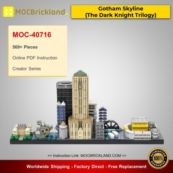 MOC-40716 Creator Gotham Skyline (The Dark Knight Trilogy) Designed By benbuildslego With 569 Pieces