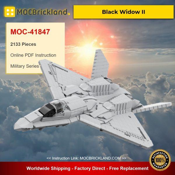 MOC-41847 Military YF-23 Black Widow II Designed By AsgardianStudio With 2133 Pieces