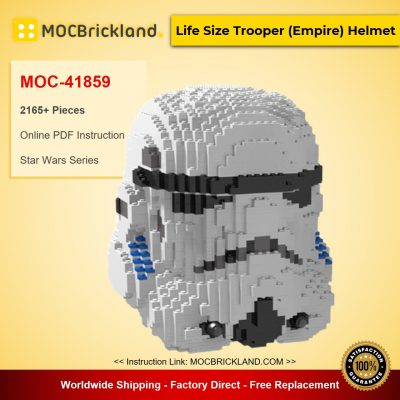 Life Size Trooper (Empire) Helmet MOC-41859 Star Wars Designed By tyholmes12 With 2165 Pieces