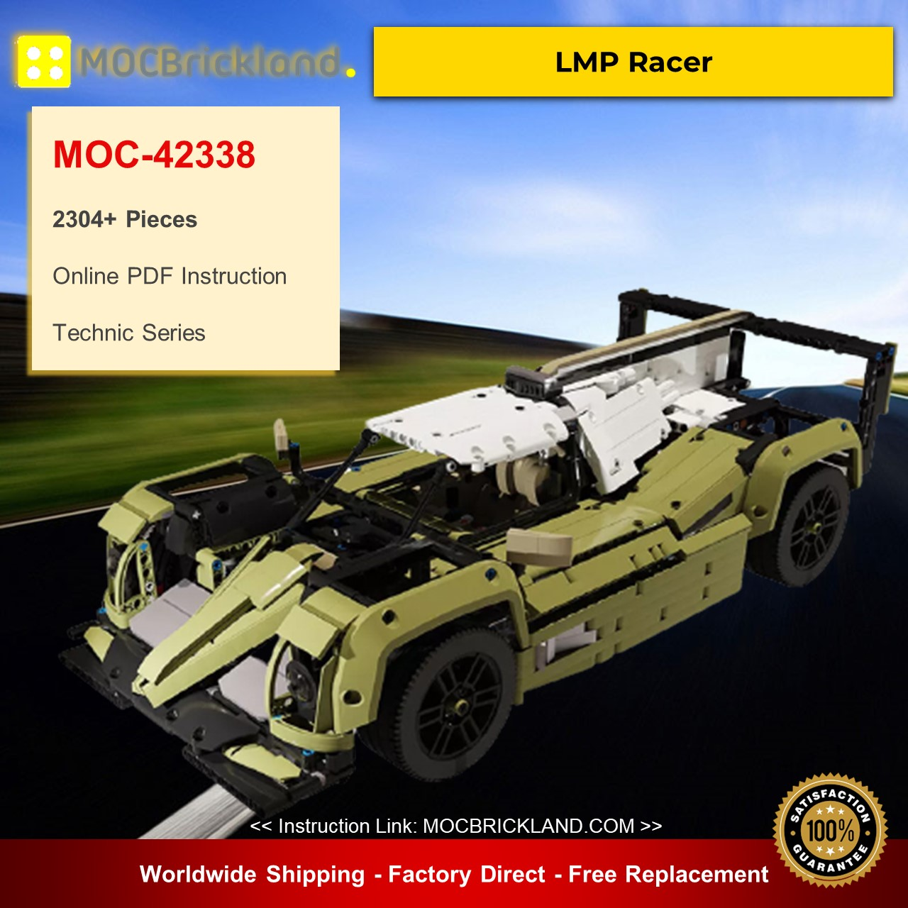MOC-42338 Technic LMP Racer Alternative Build of LEGO Set 42110-1 Designed By Dyens Creations With 2304 Pieces