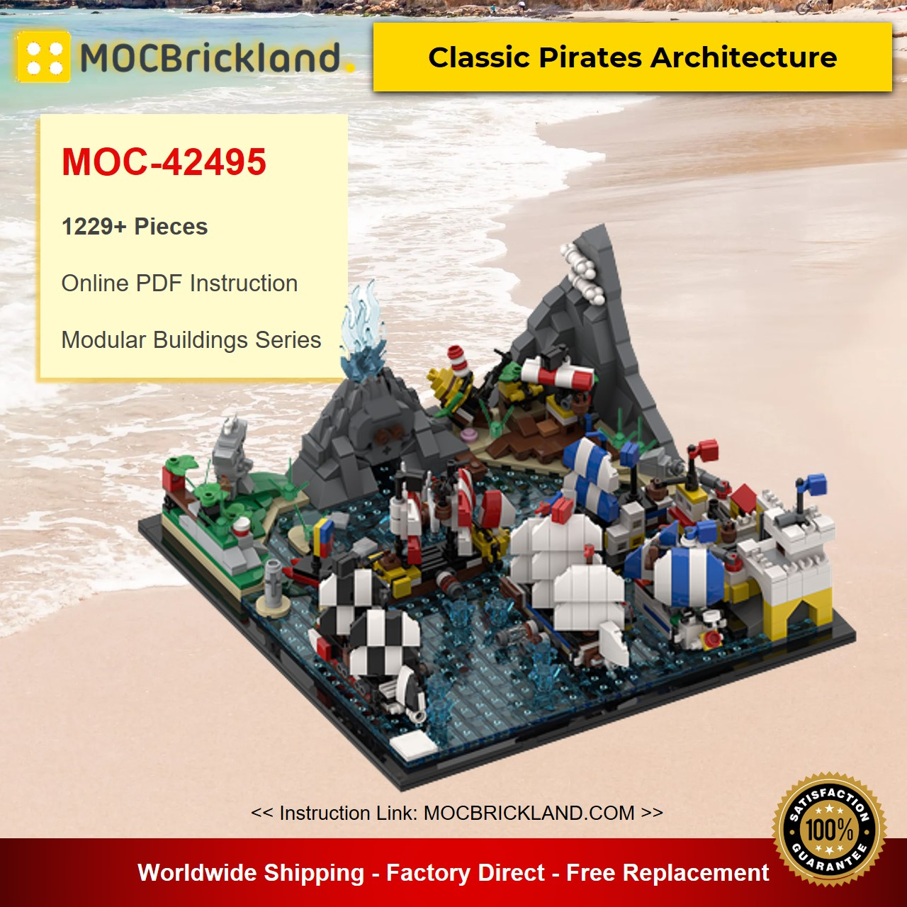 MOC-42495 Modular Buildings Classic Pirates Architecture Designed By MOMAtteo79 With 1229 Pieces