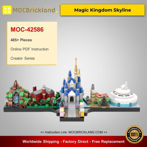 MOC-42586 Creator Magic Kingdom Skyline Designed By benbuildslego With 485 Pieces