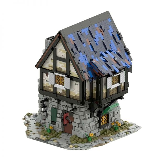 The Medieval Smithy Modular Building MOC-44070 by povladimir WITH 2997 PIECES