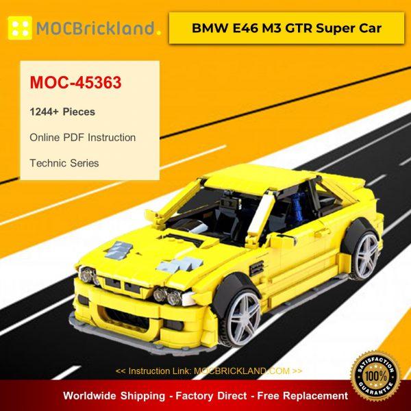MOC-45363 Technic BMW E46 M3 GTR Super Car Designed By QuattroBricks With 1244 Pieces
