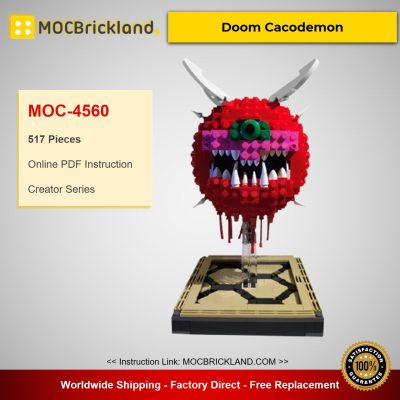 MOC-4560 Creator Doom Cacodemon Designed By ThatSnillet With 517 Pieces