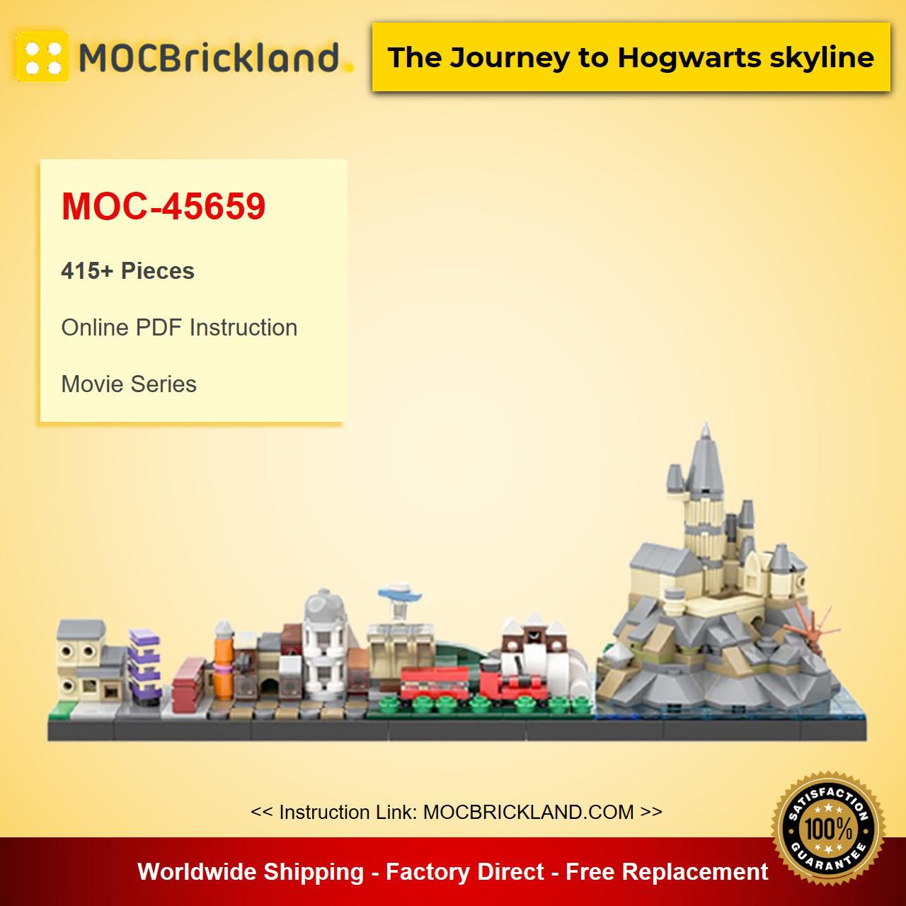 The Journey to Hօgwarts skyline MOC-45659 Movie Designed By benbuildslego With 415 Pieces