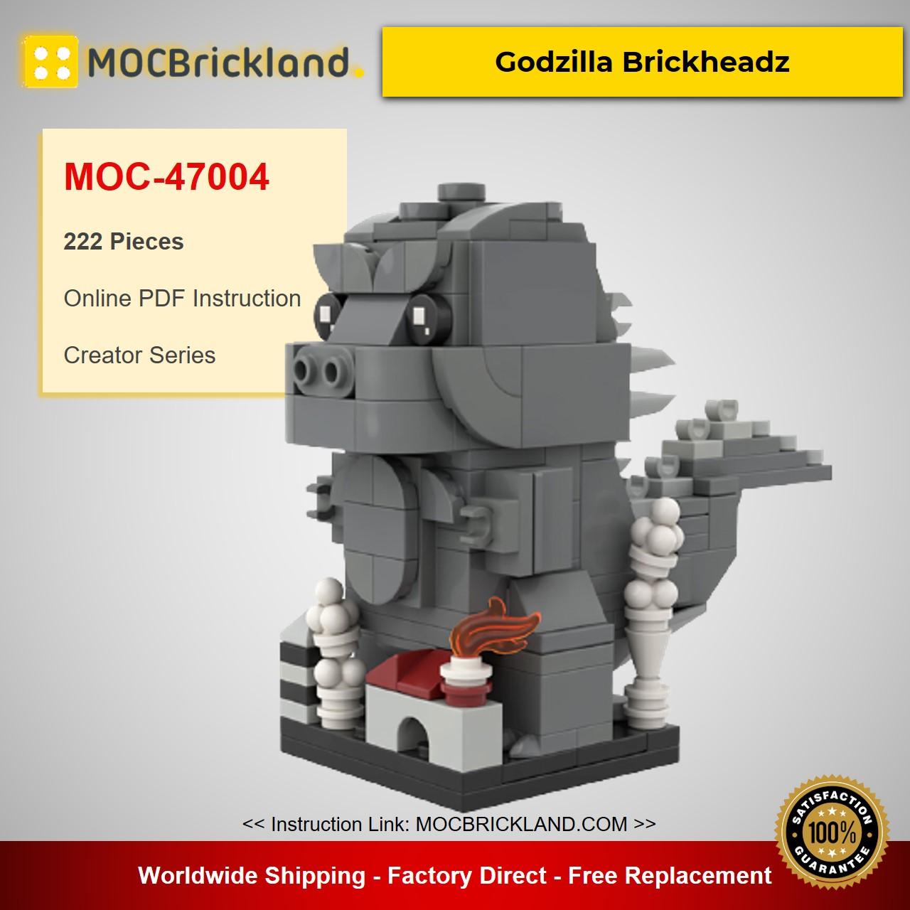 Godzilla Brickheadz MOC-47004 Creator Designed By Brickdroid With 222 Pieces