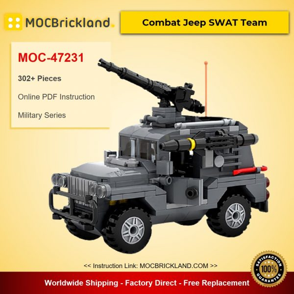 Combat Jeep SWAT Team MOC-47231 Designed By MadMocs With 302 Pieces